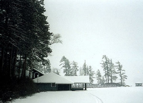 Original Boat House in Winter