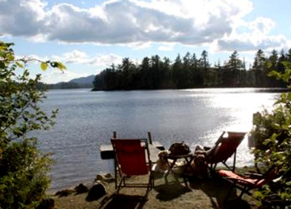 View from Private dock for Camp Entrance Cottages